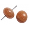 Glass Pressed Beads 8mm Round Dark Brown